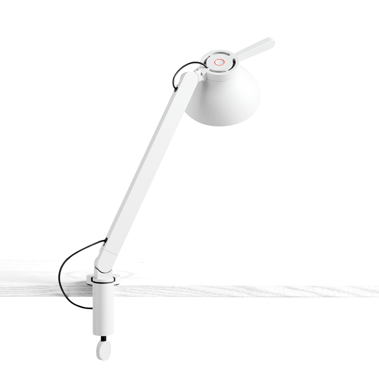 PC Single Arm with Clamp - white