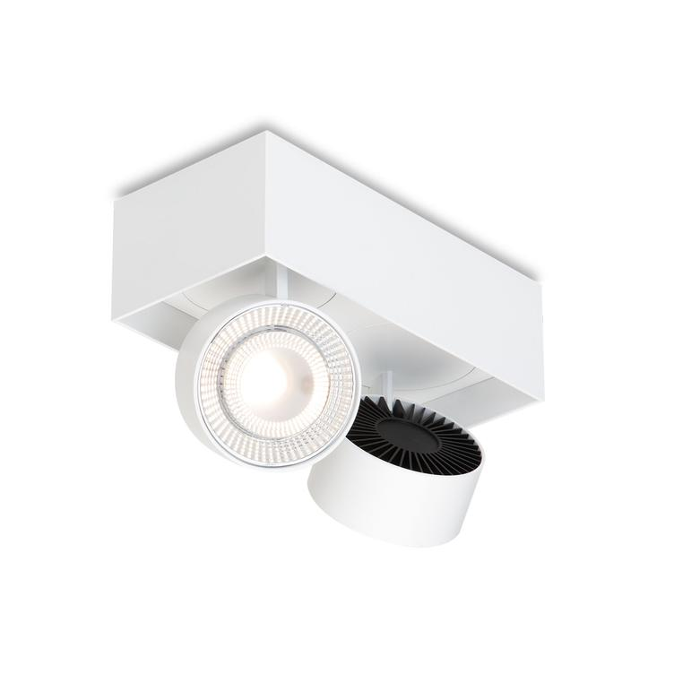 WI 4.0 `Double` semi-flush- white