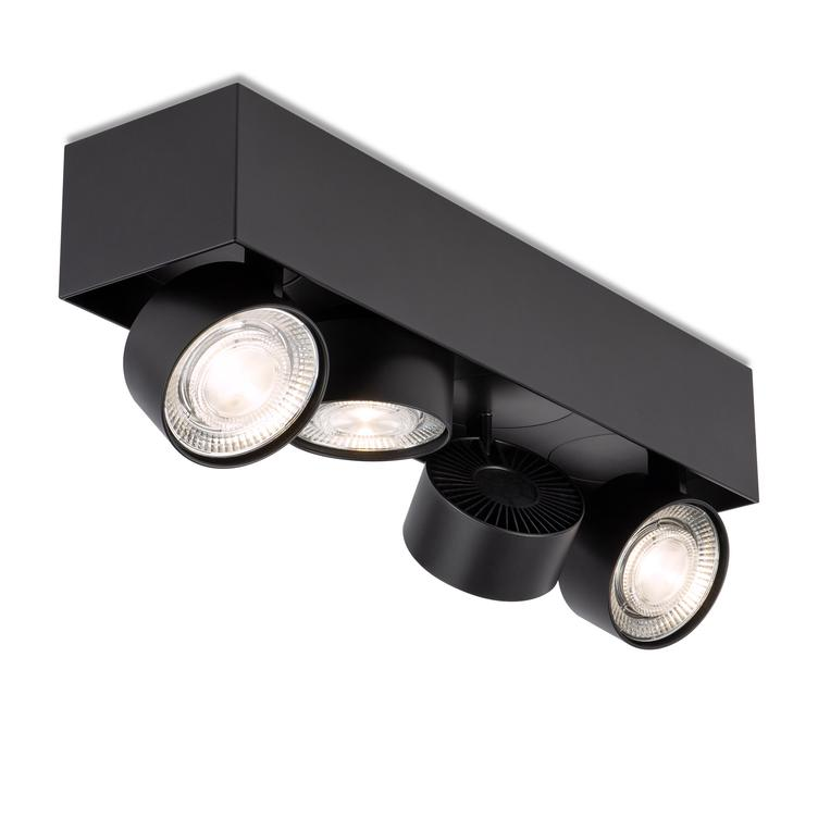 WI 4.0 `Quadruple` semi-flush- black