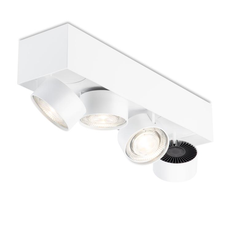 WI 4.0 `Quadruple` semi-flush- white